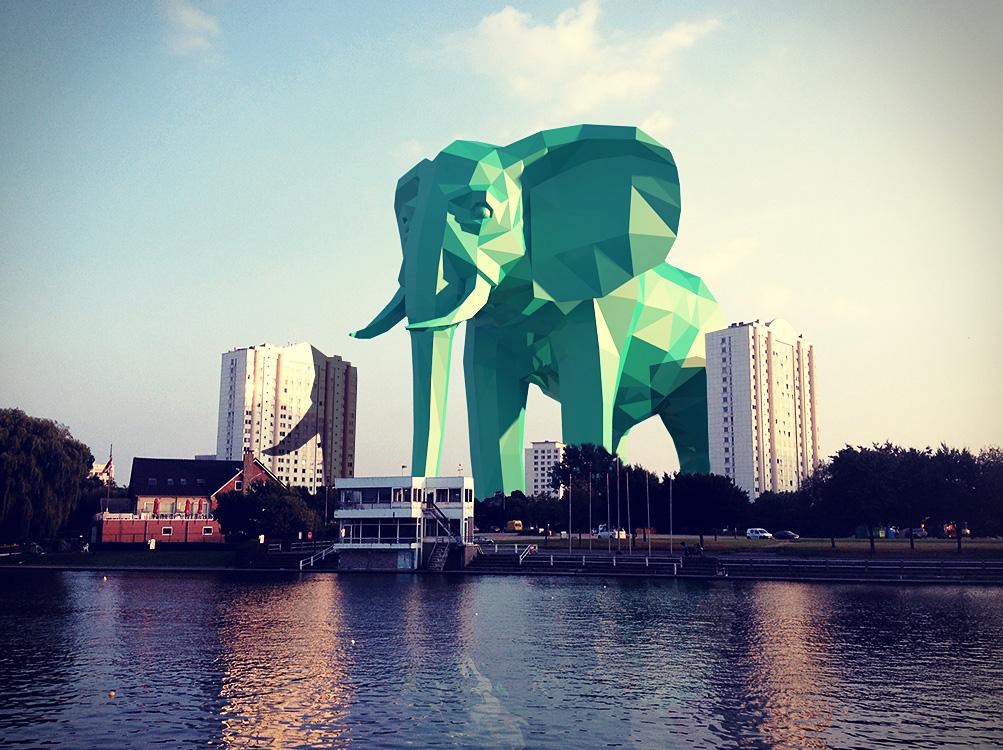 watersportbaan elephant 3d