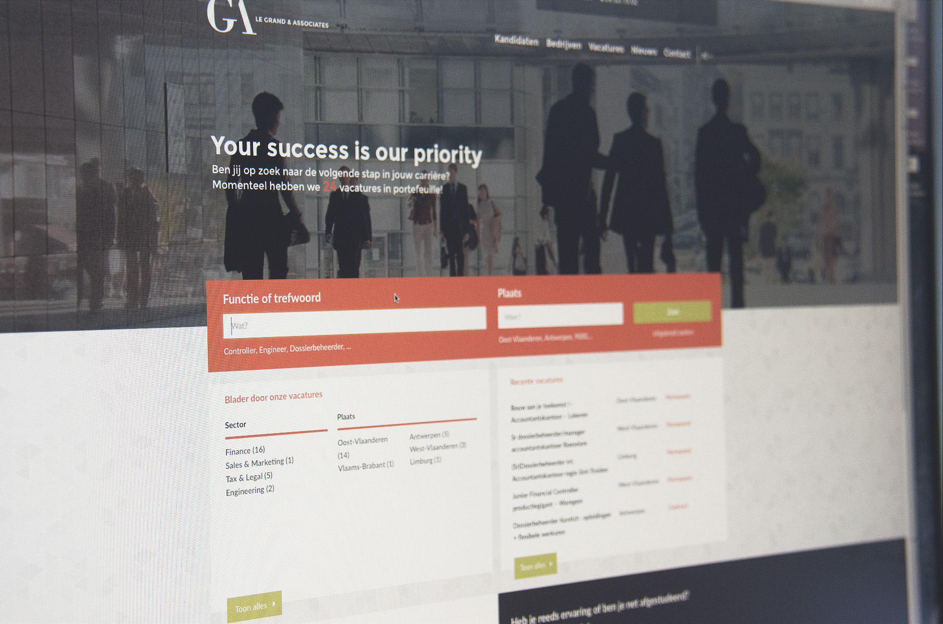 webdesign vacatures le grand & associates