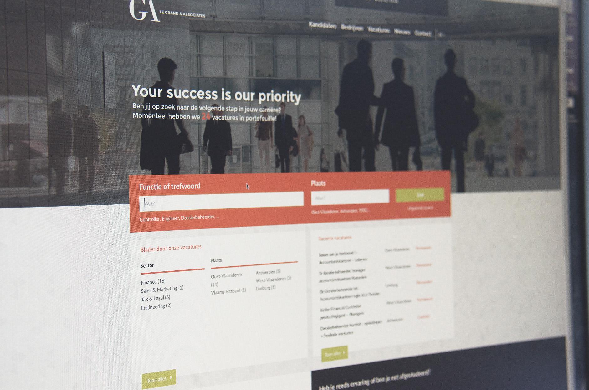 webdesign vacatures le grand & associates